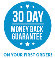 Your first order is covered by a money back guarantee