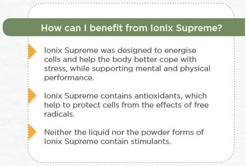 Benefits of Ionix Supreme