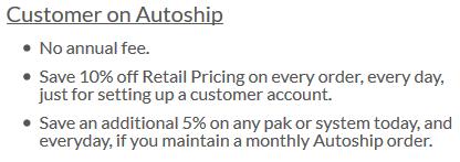 Customer on Autoship