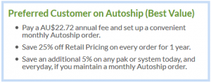 Preferred Customer with Autoship