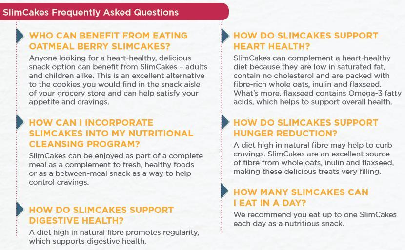 SlimCakes FAQs