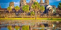 Famous Angkor Wat temple in Cambodia