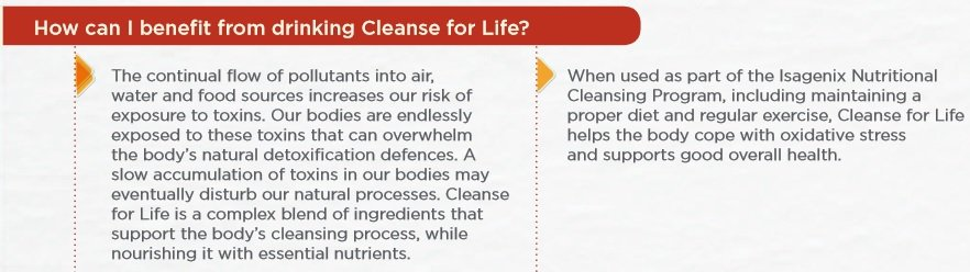 Benefits of Cleanse for Life