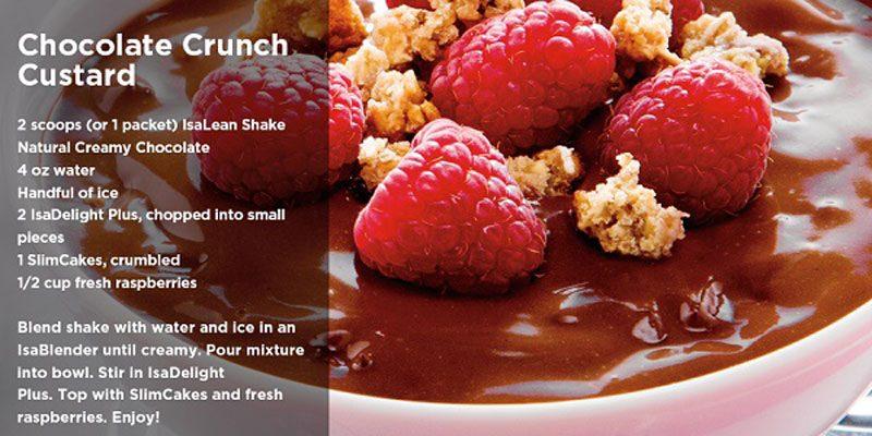 Crunchy Chocolate Custard