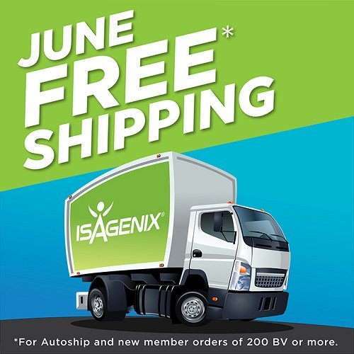 Isagenix Free Shipping During June