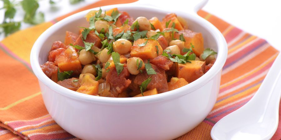 Hearty Sweet Potato and Bean Stew