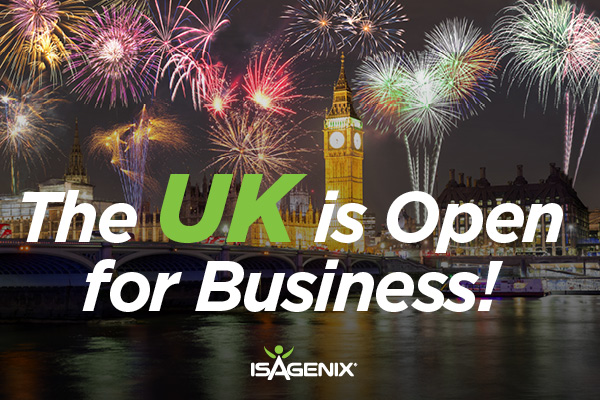Isagenix UK Now Open