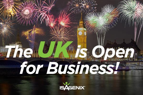 Isagenix UK Now Open