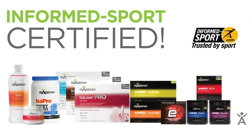 Isagenix Performance Products Now Informed-Sport Certified!