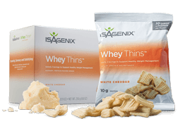 Isagenix Whey Thins in Cheddar Flavour