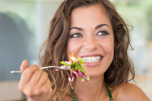 Smiling Woman on a Diet