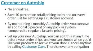 Customer on Autoship