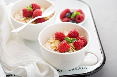 Oat bran and fruit