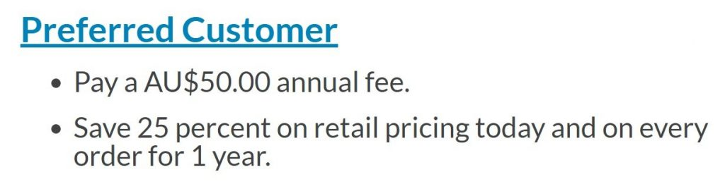 Preferred customer