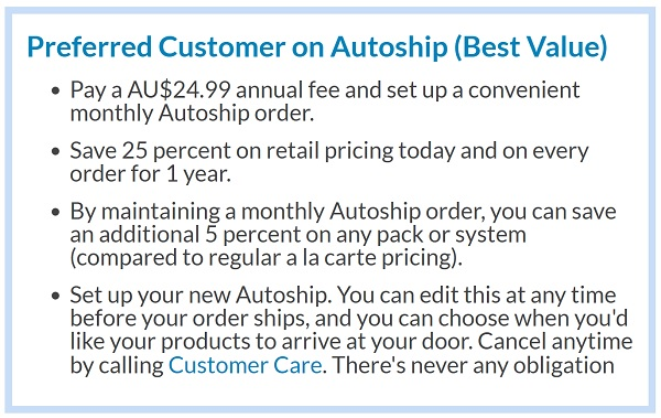 Preferred Customer on Autoship