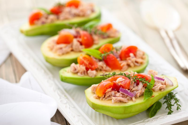Avocado and Tuna