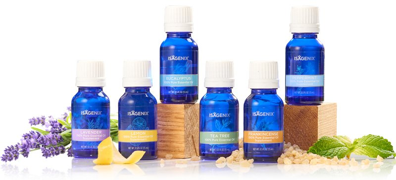 Range of Isagenix Essence Essential Oils