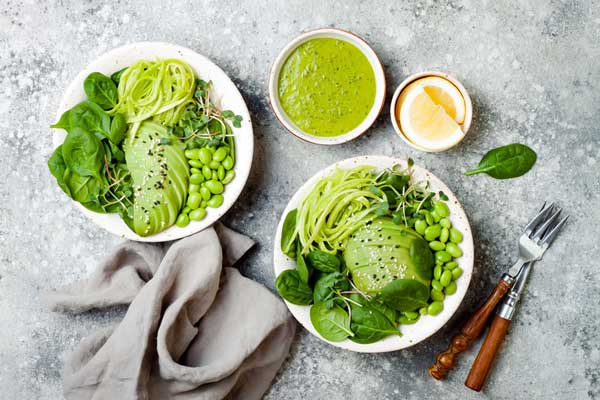 7. Zoodles With Avocado Sauce