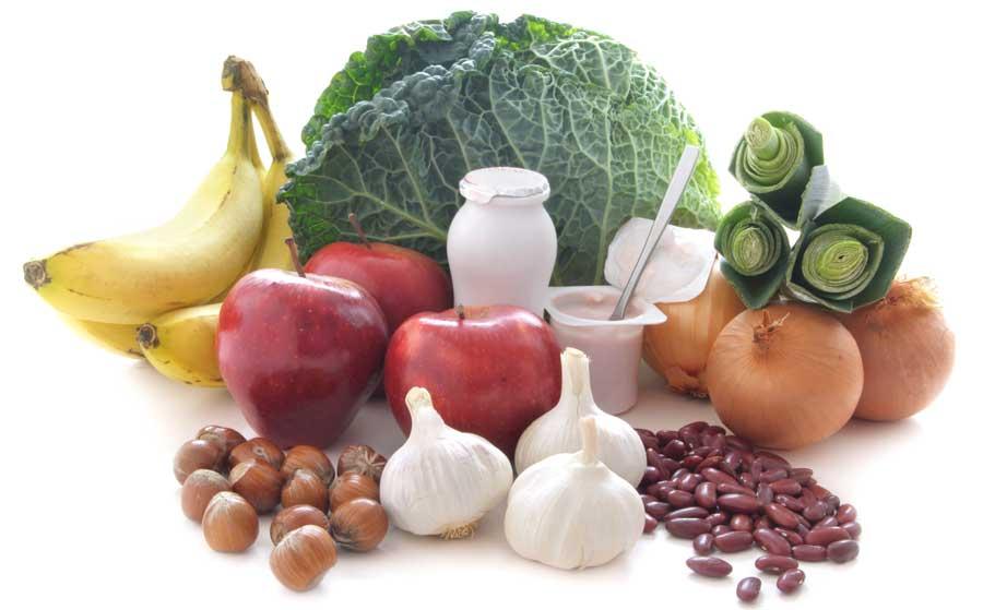 Probiotic prebiotic foods diet