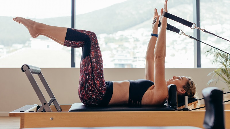 Woman doing pilates workout
