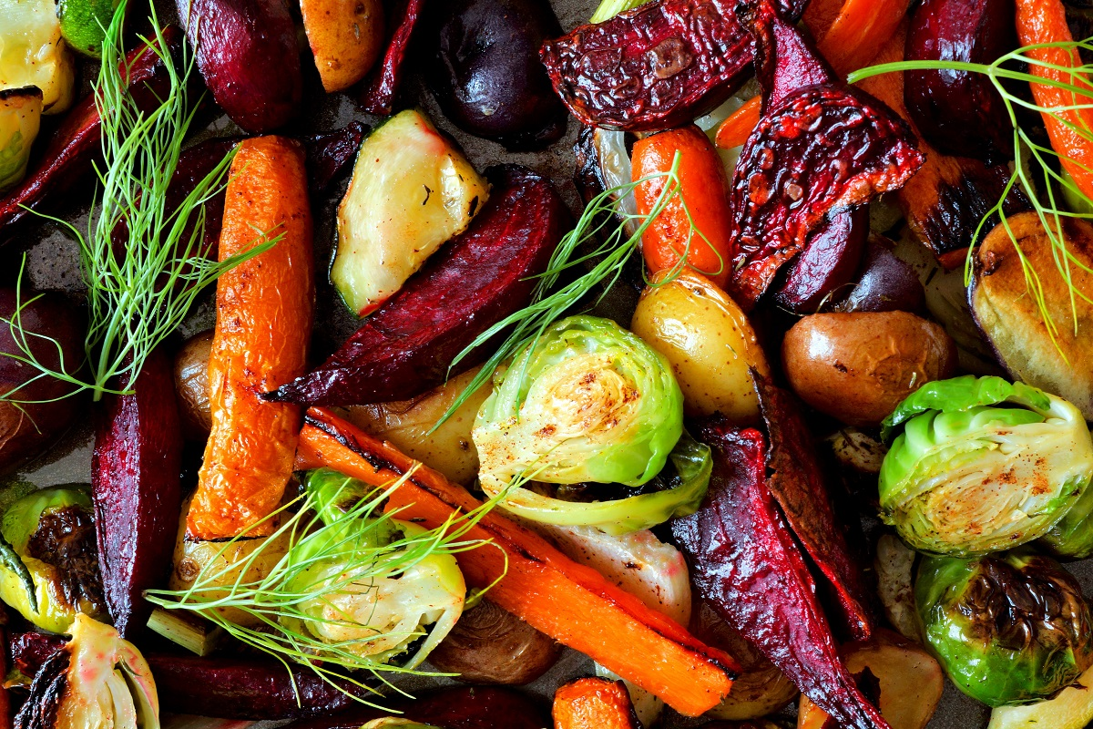 Delicious roasted winter vegetables