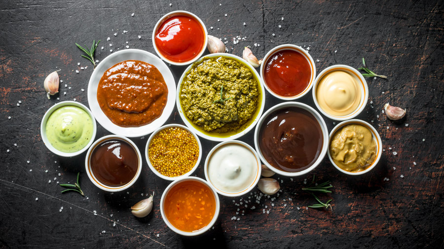 Variations of delicious sauces