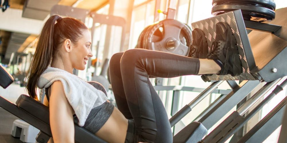 Leg Press workout is for leg muscle strength.